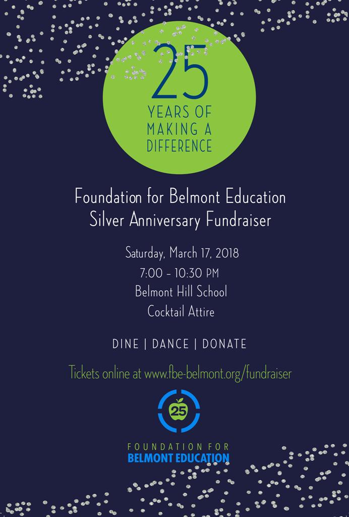 Fbe Fundraiser  Event Highlights  Ticket Update  Belmont Public