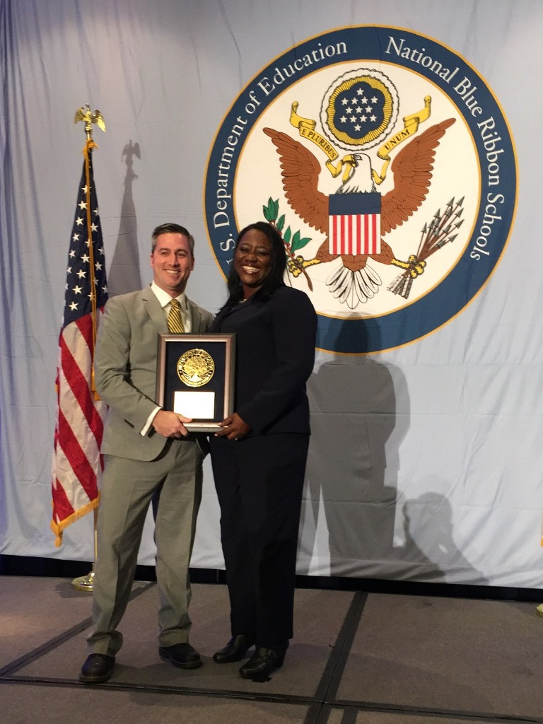 Abu Kumi, Director, National Blue Ribbon Schools Program and Principal Michael McAllister