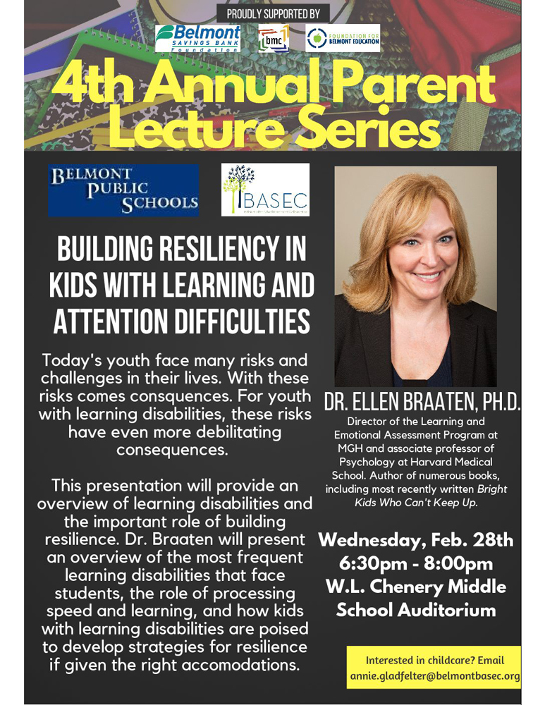 Lecture Series: Building Resiliency in Kids with Learning Difficulties
