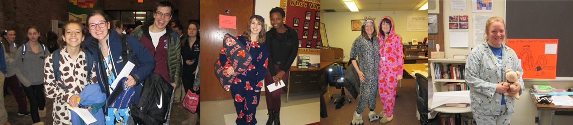 Belmont High School Students Wear Pajamas for Donations