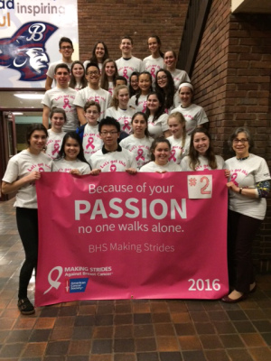 BHS Team. Making Strides Against Breast Cancer High School Challenge