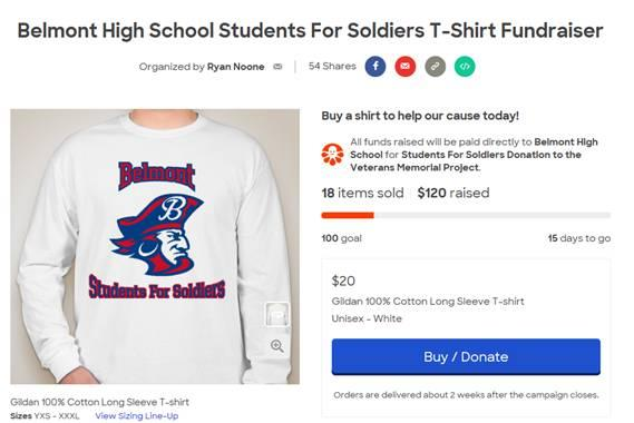 BHS Students for Soldiers Club - Marauder Long Sleeve T-shirts