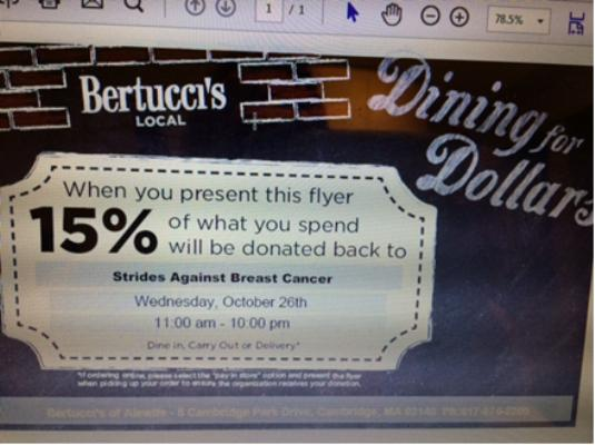 Bertucci's coupon