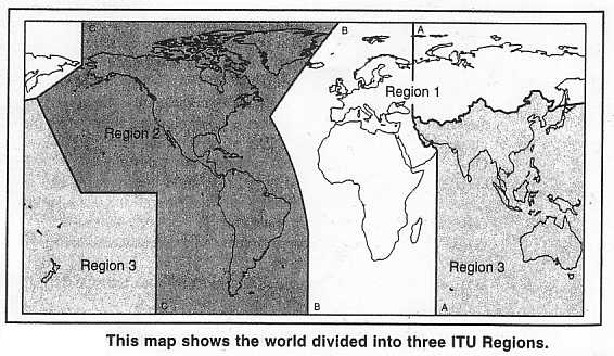 Hams Around the World, ITU Regions