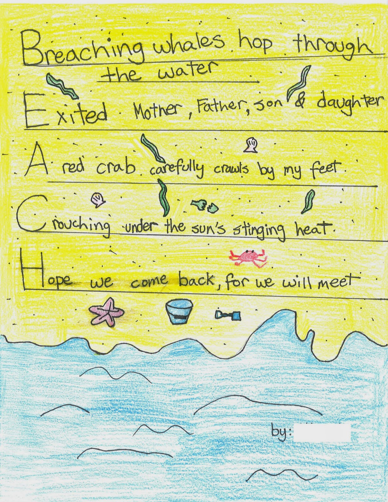 BEACH acrostic by a.w.