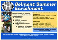 Belmont Summer Enrichment 2019