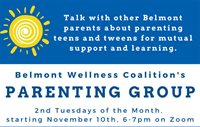 Belmont Wellness Coalition: Parenting Group Meetings