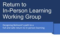 Return to In-Person Learning Working Group