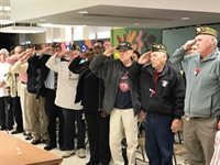 Veterans Saluting at Burbank