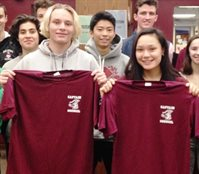 Booster January 2019 Athletes of the Month Megan Tan, Girls Basketball, and Justin Darling, Wrestling