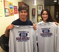 Booster September Athletes of the Month David D'Agostino and Marina Cataldo
