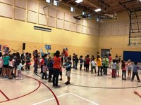Line Dancing at Burbank Fall Family Social