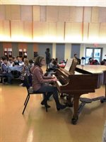 Fine Dining Day with Wellington Parent Anne Paretti on piano