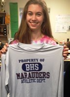 January 2020 Booster of the Month Sara Firth, Girls Indoor Track