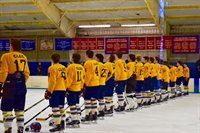 Boys Ice Hockey Game and Tribute to Cleo