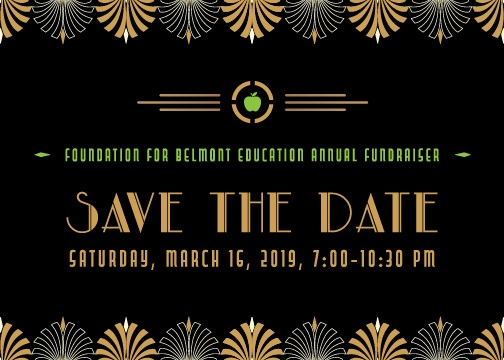 Foundation for Belmont Education  Annual Fundraiser on Saturday, March 16, 2019