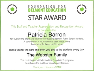 FBE STAR Awards – Say Thank You to a Special Teacher