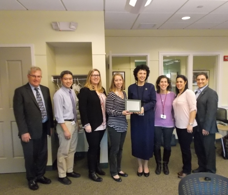 The Belmont Council on Aging presented an award to the Butler School