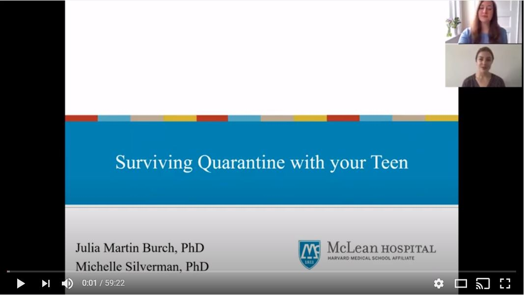 Surviving Quarantine with your Teen Webinar