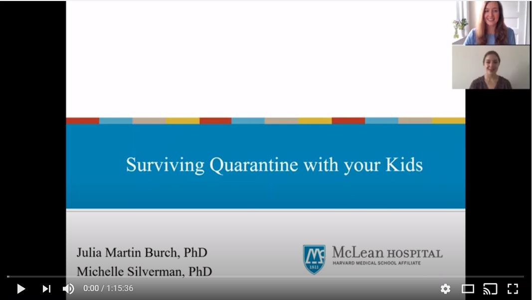 Parenting in the Time of Coronavirus – Pre-Recorded Webinars
