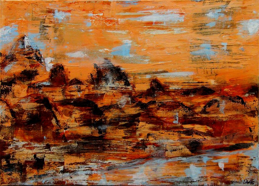Darcy Feeley, The Rocky Mointains (Oil/Acrylic)