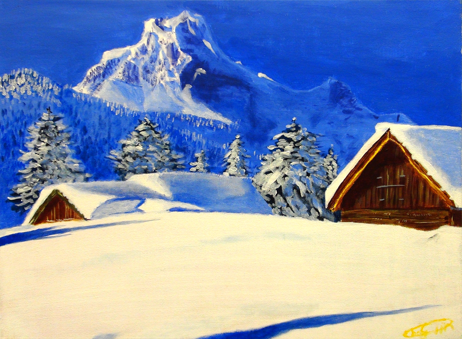 Cheng Qin, Snow (Acrylic)