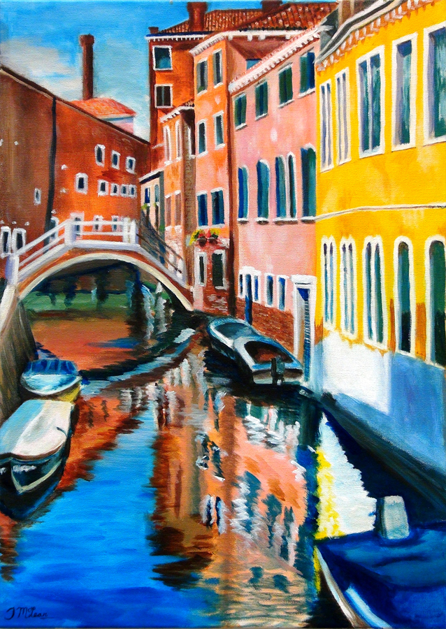 Julia McLean, Reflections of Venice (Acrylic)