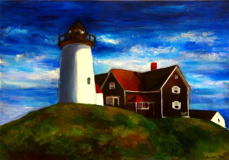 Anastasia Pulak, Lighthouse (Acrylic)