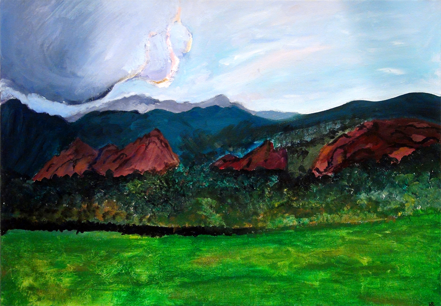 Kate Saylor, Garden of the Gods (Acrylic)