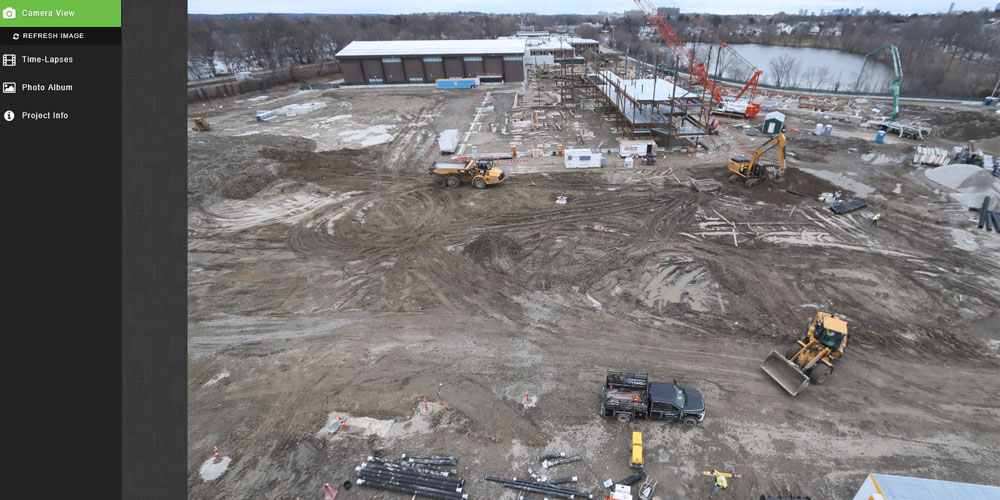 Bird's Eye view of the school construction site