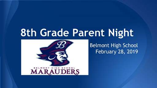 8th Grade Parent Night 2019