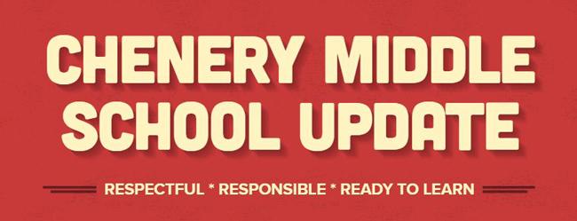 Chenery Middle School Update - Week of October 17, 2021