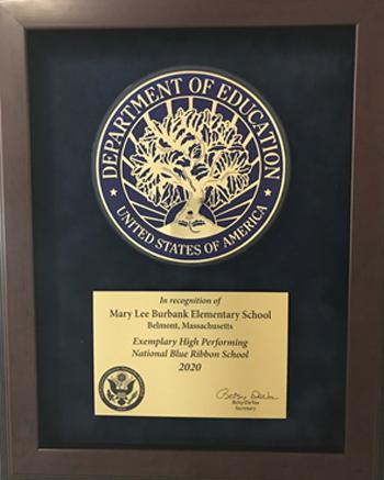 Mary Lee Burbank School is 2020 National Blue Ribbon School