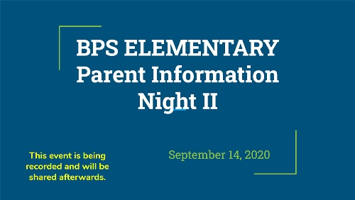 Elementary Parent Information Night II